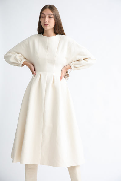 Annother [Archive] Line Dress in Cream front