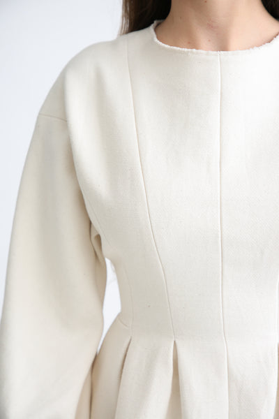 Annother [Archive] Line Dress in Cream bodice detail