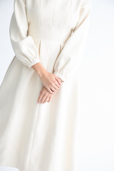Annother [Archive] Line Dress in Cream sleeve detail