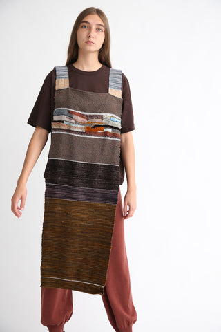 Handwoven Overlay in Autumn on model view front