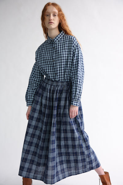 Ichi Skirt in Check on model view front