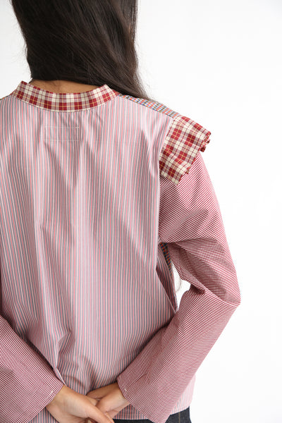 Bettina Bakdal Anni Cotton Shirt in Red Plaid back