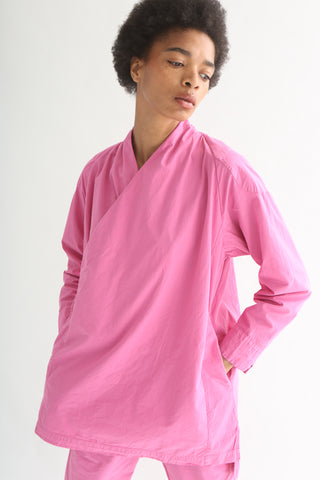 Cosmic Wonder Kappougi Long Sleeve Top - Cotton in Plum front