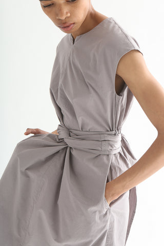 Cosmic Wonder Wrapped Sleeveless Dress - Cotton in Violet Ash pocket detail