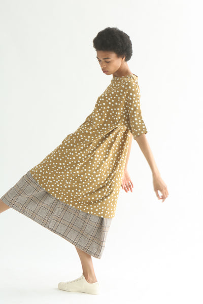 Ichi Top - Cotton in Beige Polka Dot side