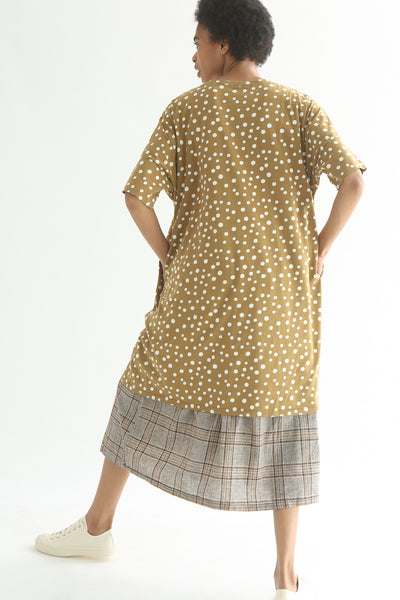 Ichi Top - Cotton in Beige Polka Dot back