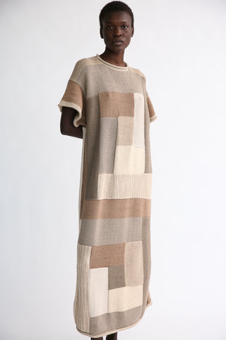 Lauren Manoogian Log Cabin Dress in Mix front