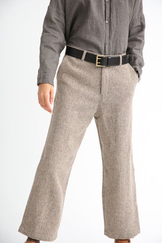 Ichi Antiquites Pant - Wool in Beige front