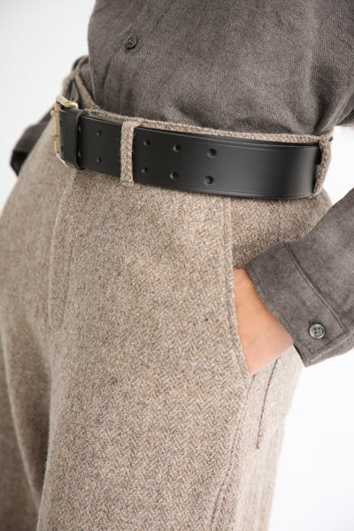 Ichi Antiquites Belt - Cow Leather in Black side