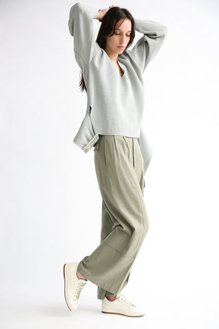Rito Wide Pants in Khaki on model view side