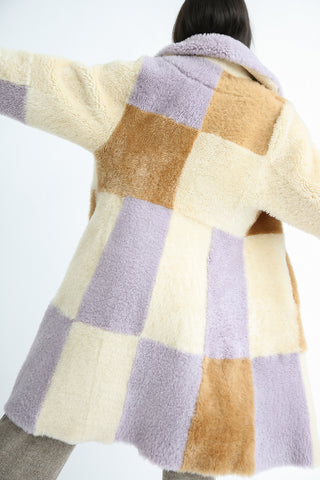 Milena Silvano Albizia Coat in Multi back