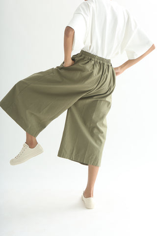 Ichi Pants - Cotton/Linen in Khaki back