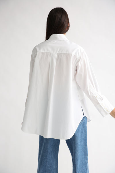 Rito Broad Shirt in White back