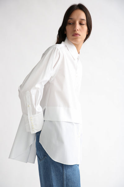 Rito Broad Shirt in White side