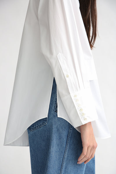 Rito Broad Shirt in White sleeve detail