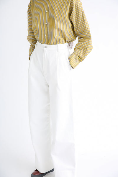 Studio Nicholson Seymour Trouser - Selvedge Denim in Optic White side