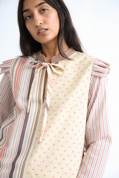 Bettina Bakdal Anni Cotton Shirt in Stripe front