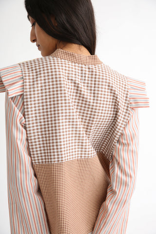 Bettina Bakdal Anni Cotton Shirt in Stripe back