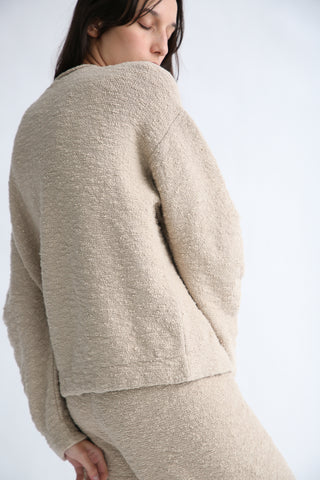 Lauren Manoogian Arch Pullover in Greige on model view side