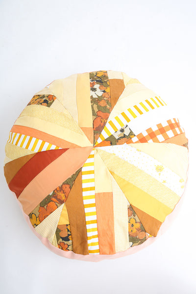 La Reunion Patchwork Pouf in Yellow