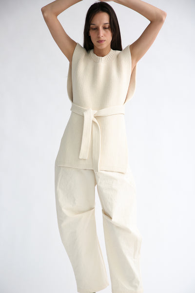 Lauren Manoogian Lap Pants in Canvas on model view front