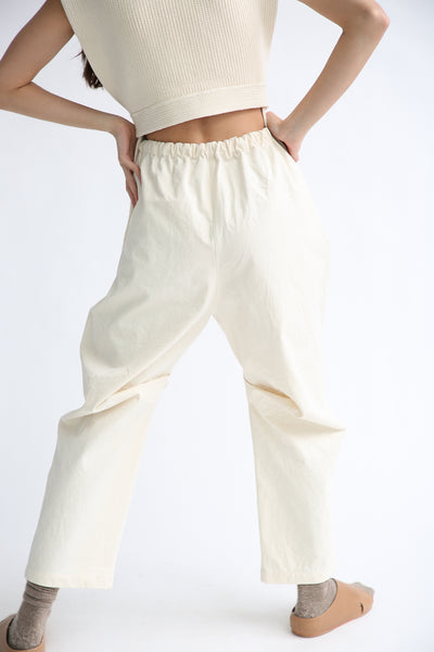 Lauren Manoogian Lap Pants in Canvas on model view back