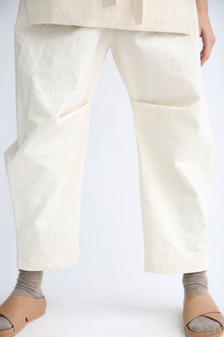 Lauren Manoogian Lap Pants in Canvas knee pleat detail