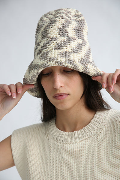 Lauren Manoogian New Bell Hat in Static Space on model view front
