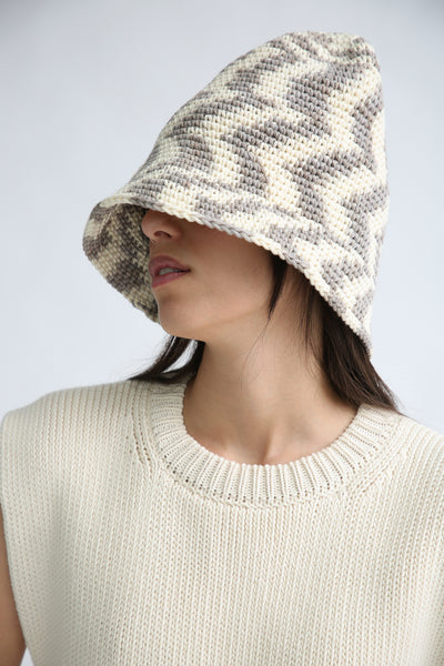 Lauren Manoogian New Bell Hat in Static Space brim down side