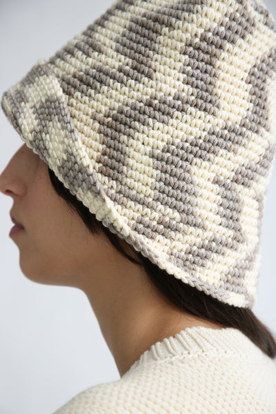 Lauren Manoogian New Bell Hat in Static Space side up close detail