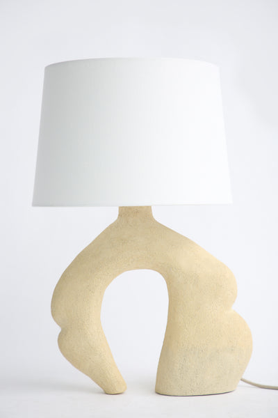 Lost Quarry Hand Built Lamp N0. 00119 - Embowed Lamp in Limestone