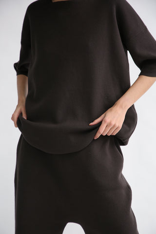 Lauren Manoogian Interlock T Tunic in Carbon front