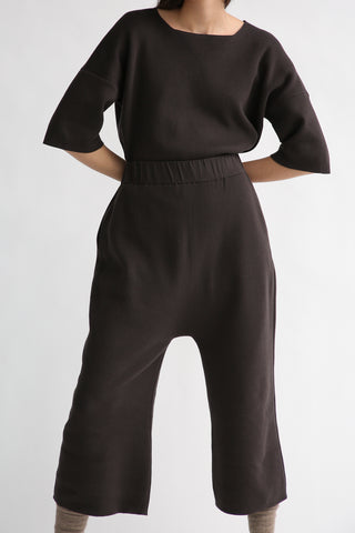 Lauren Manoogian Interlock Peg Pants in Carbon on model view front