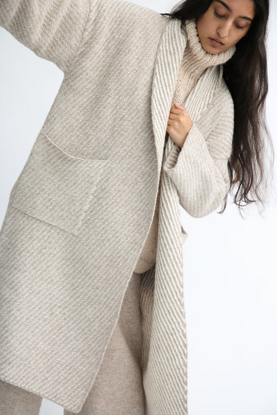 Lauren Manoogian Twill Long Coat in Bale Combo front