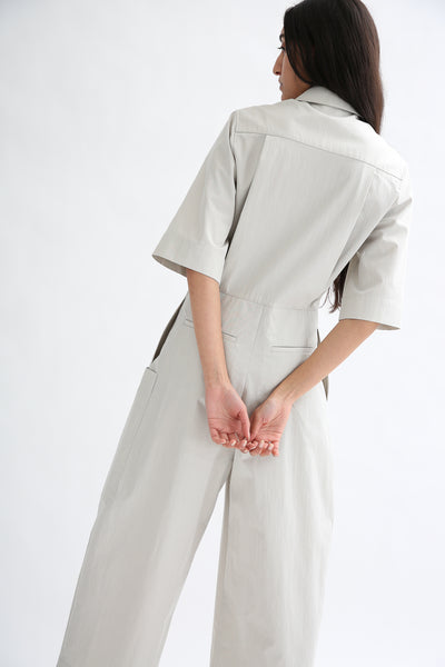 Studio Nicholson Berte Jumpsuit - Washed Cotton Poly in Ash back