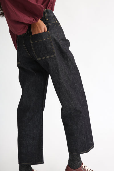 Studio Nicholson Ruthe Pant in Indigo back view