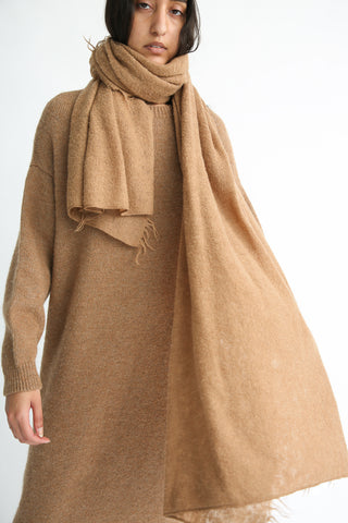 Lauren Manoogian Fringe Scarf in Camel