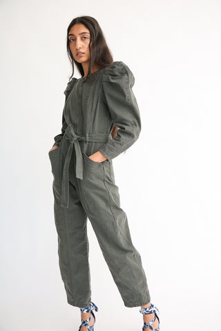 Ulla Johnson Pascal Jumpsuit in Peat on model view side