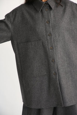Studio Nicholson Bax Shirt Jacket in Asphalt pocket