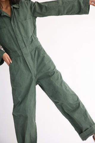 As Ever Zip Jumpsuit in Eucalyptus front