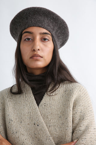 Lauren Manoogian Horizontal Beret in Patina front detail