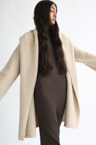 Lauren Manoogian Capote Coat in Antique on model view front