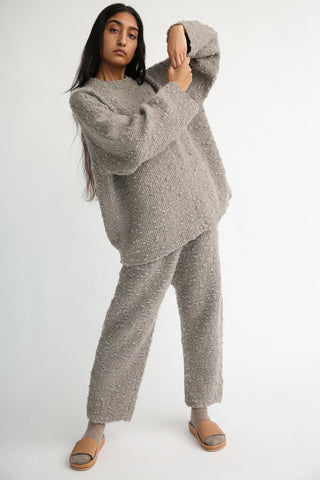 Lauren Manoogian Oru Pants in Grey Combo on model view front