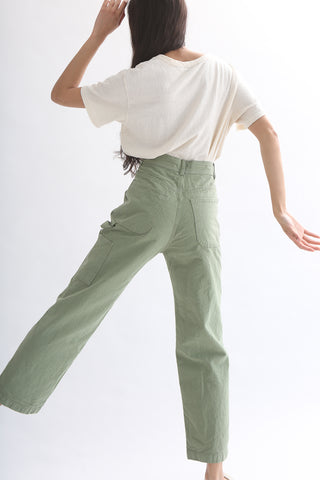 Jesse Kamm Handy Pant - Organic Canvas in Shrub back