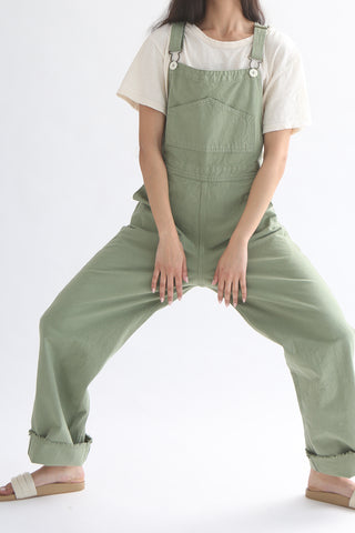 Jesse Kamm Overalls - Organic Canvas in Shrub front