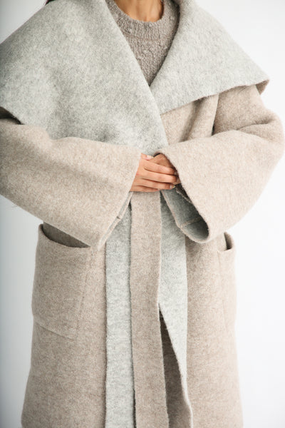 Lauren Manoogian Blanket Coat in Bale/Pebble sleeve detail