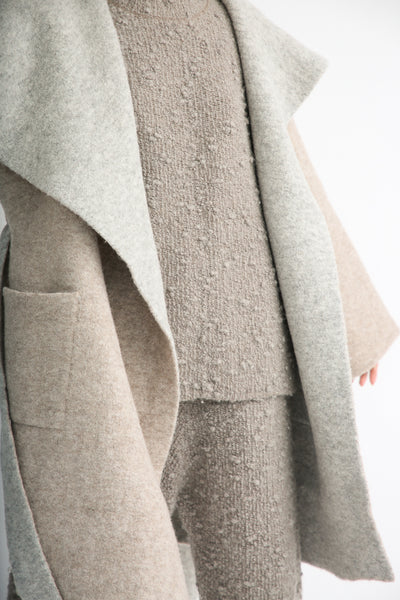 Lauren Manoogian Blanket Coat in Bale/Pebble open front