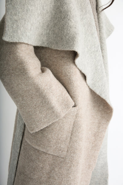 Lauren Manoogian Blanket Coat in Bale/Pebble pocket
