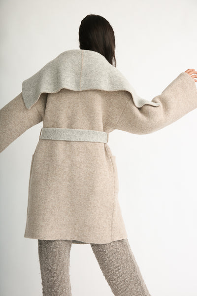 Lauren Manoogian Blanket Coat in Bale/Pebble back