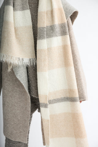 Lauren Manoogian Handwoven Fluffy Plaid Wrap in Plaid